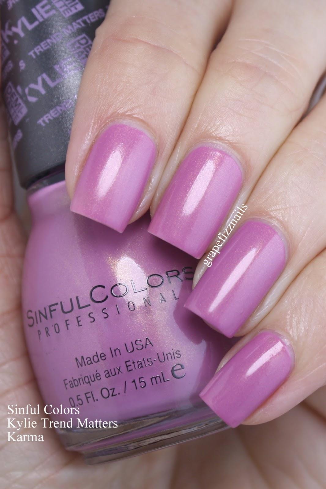 Grape Fizz Nails: Sinful Colors Kylie Trend Matters