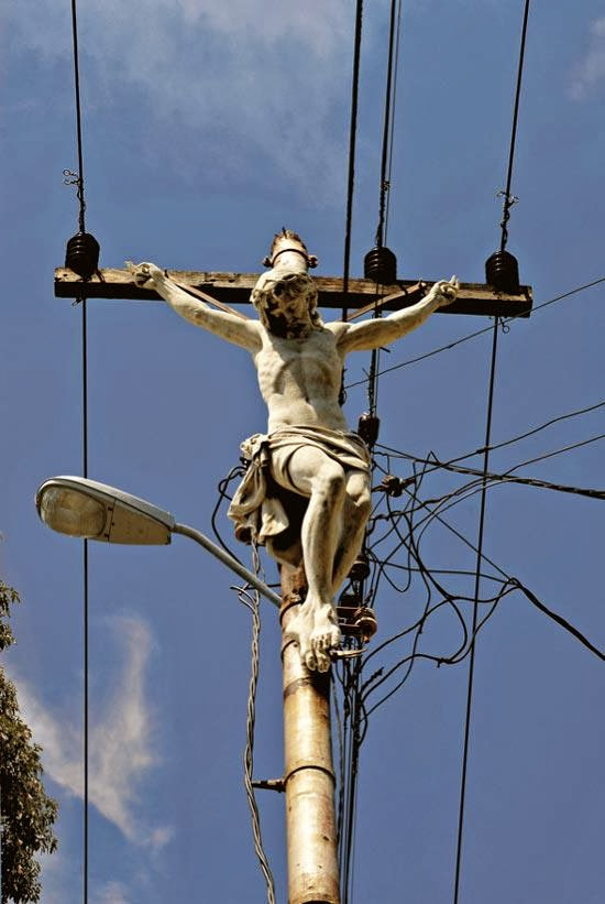 Funny Crucified Jesus Poses - Jesus shocked to be crucified