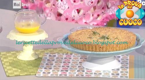 Sbrisolona con zabaione al moscato ricetta Valbuzzi da Prova del Cuoco