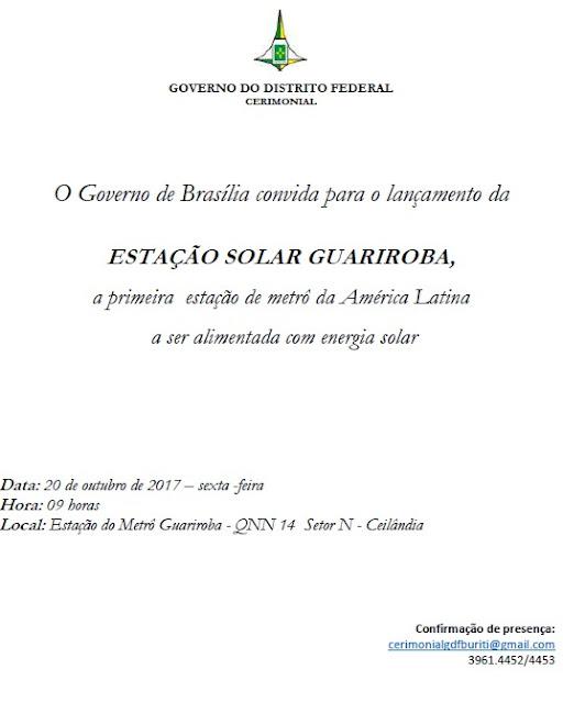 FOTO: CERIMONIAL DO GDF- DFMOBILIDADE