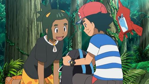 Pokemon Sol y Luna Capitulo 97 Temporada 20 Dartrix el Artesano, Rowlet el Dormilón