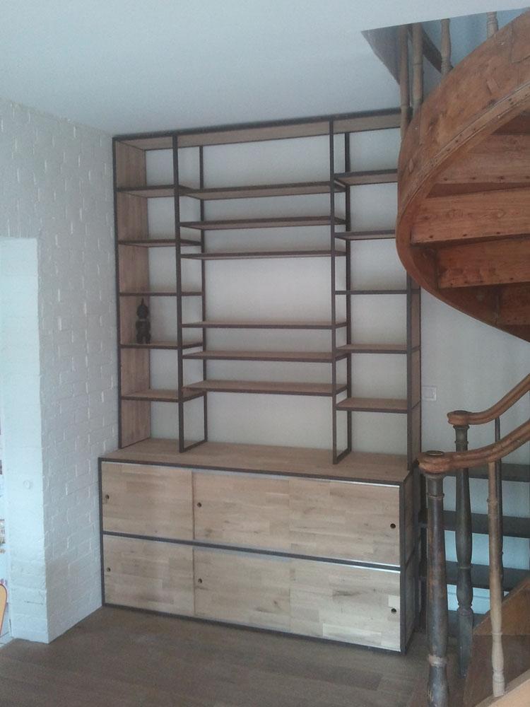 blog de la maison de l 39 imaginarium l 39 ambiance factory 100 sur mesure grande biblioth que. Black Bedroom Furniture Sets. Home Design Ideas
