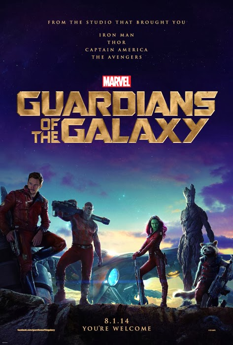Poster oficial Guardians Of The Galaxy