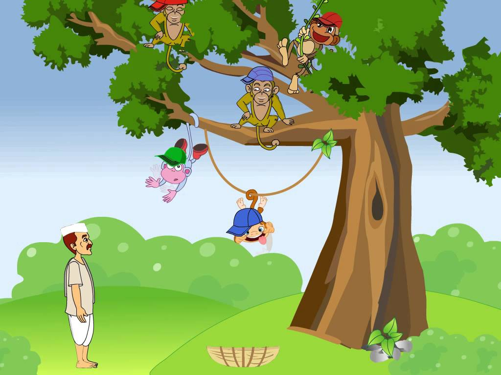 The Clever Cap Seller and the Monkeys | Kids moral stories