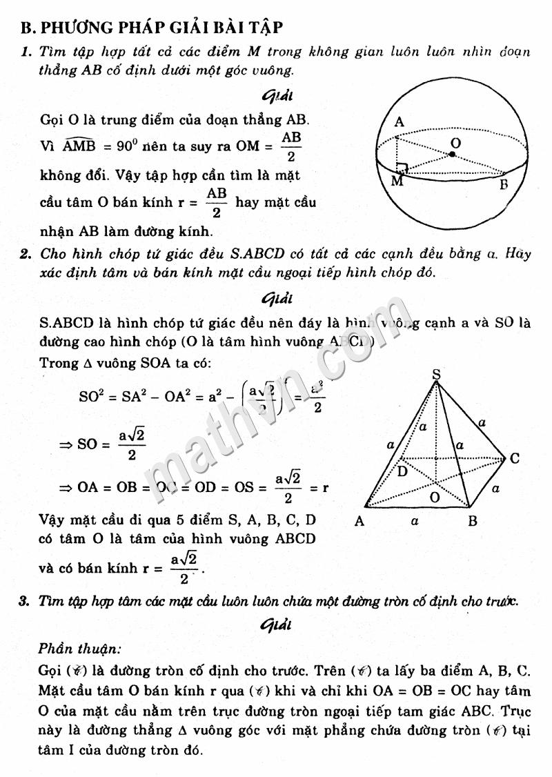 giải bài tập chương 2 hình học 12 cơ bản sgk