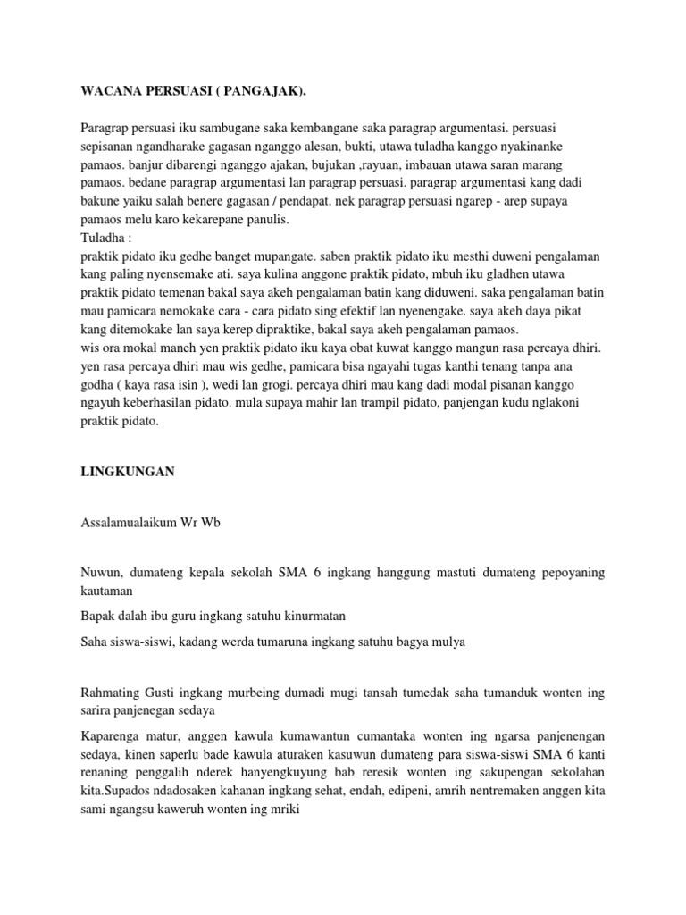 contoh pidato persuasif - wood scribd indo