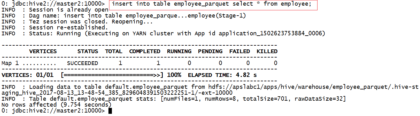 Hadoop Lessons: How to create Hive table for Parquet data