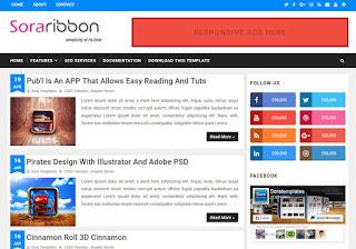Sora Ribbon Blogger Template Ringan dan Keren