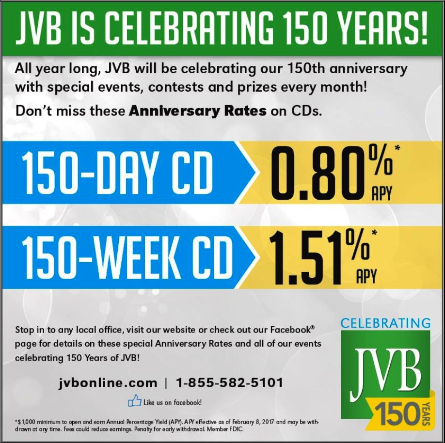 JVB Is Celebrating 150 Years!