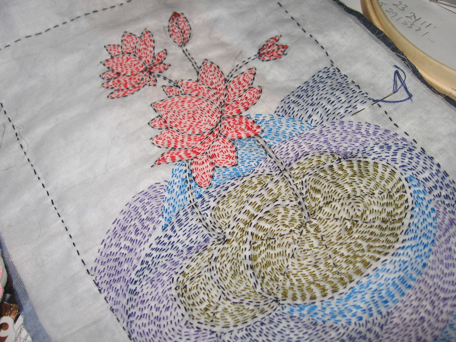 how to make kantha stitch