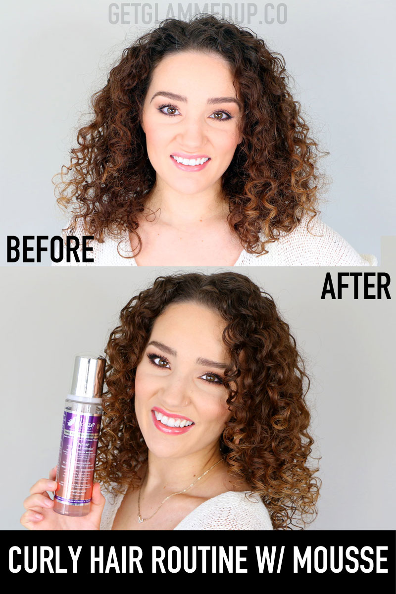 Curly Hair Routine using Mousse