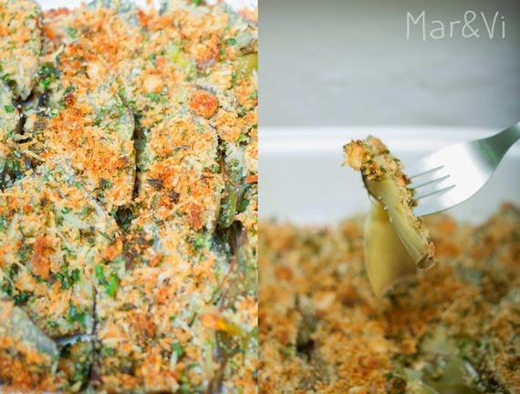 como preparar Alcachofas gratinadas