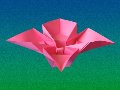 Origami Fiore a quattro petali - Flower with 4 petals by Francesco Guarnieri