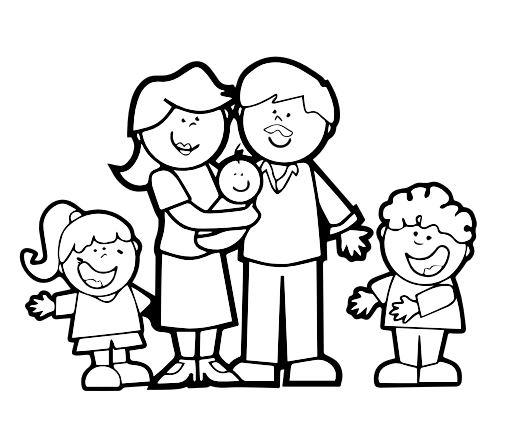 dibujos dia de la familia para colorear | Colorear dibujos infantiles
