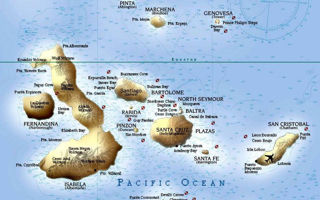 Map Of Galapagos Tour Galapagos