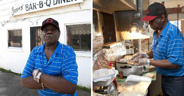 James Jones, owner of Jones Bar-B-Q Diner in Marianna, Arkansas