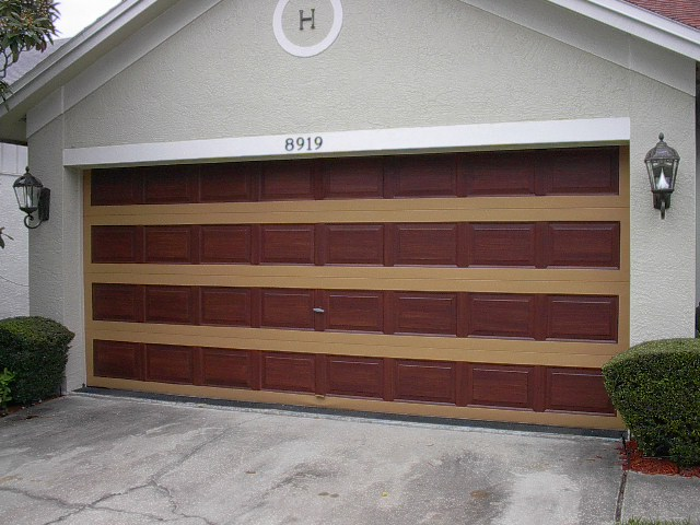 Nice nice nice everything i create paint garage doors to look like wood for How to paint a steel exterior door