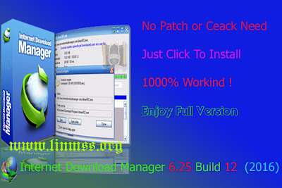 Internet Download Manager 6.25 Build 12 1000% Workind ! Enjoy Full Version (2016)