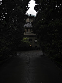 photographs of building in a cemetery on a rainy day by andreas warren matti