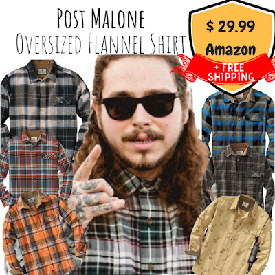 a4be0b801 This brand of flannel shirt is PERFECT for a Post Malone Halloween Costume  Shirt: You can choose your favorite color/pattern in 24 different options!