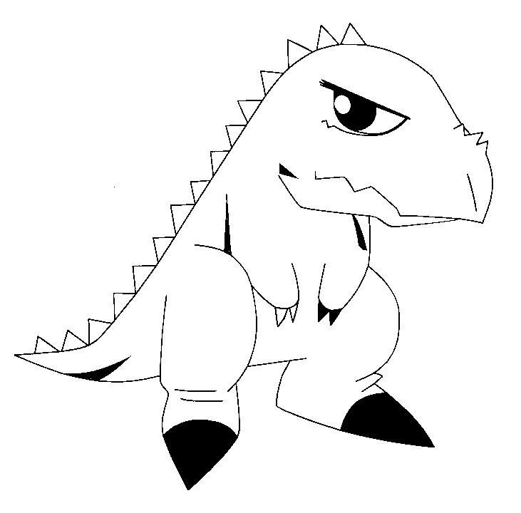 Desenhos do dinossauro rei para colorir - Dessin dinosaure a imprimer ...