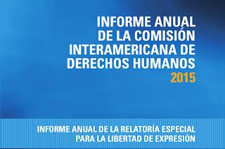 CDIH: Informe anual de la Relatoria Especial para la Libertad de Expresión