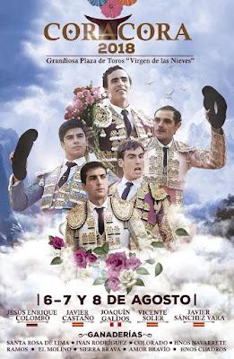 CoraCora-2018-Virgen-de-las-Nieves-cartel toros toreros agosto