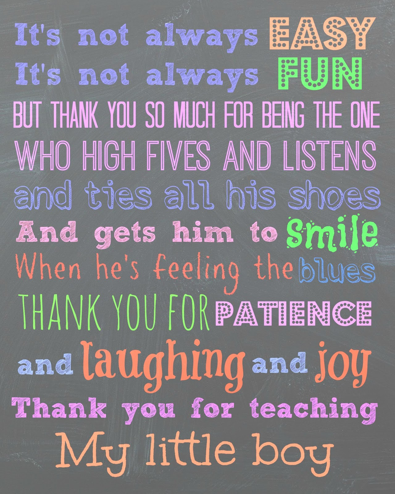 thank you poem for teacher - photo #1