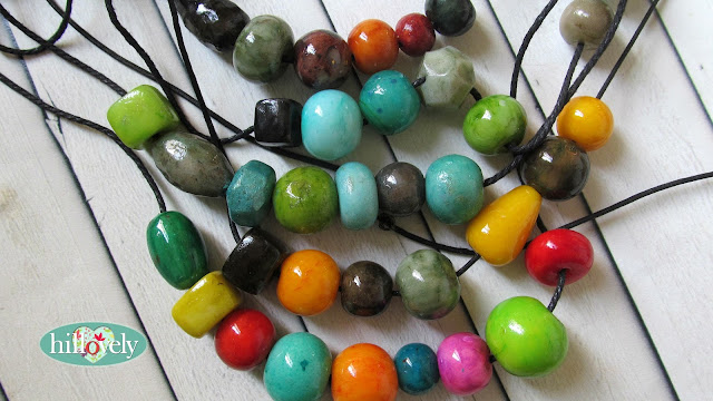 hilla bushri, hillovely, fimo beads, fimo necklace, polymer clay beads, polymer clay necklace, faux glass beads