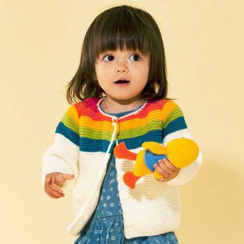 Rainbow Cardigan - Downloadable PDF