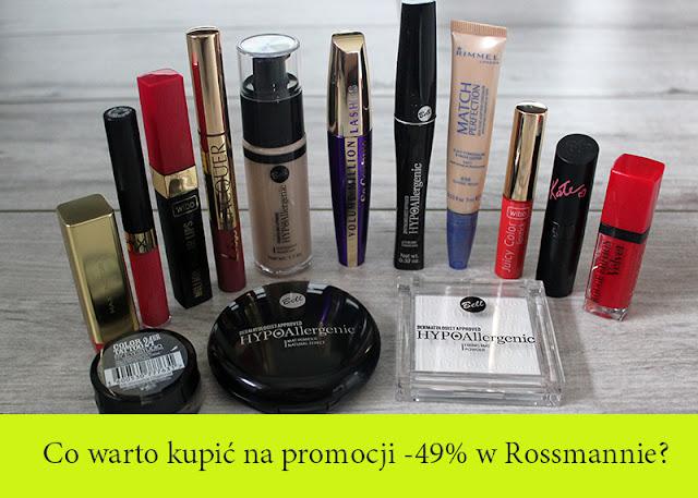 Rossmann promocja -49% kosmetyki kolorowe 2016