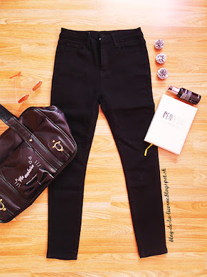 Fashion Elastic Black Pencil Jeans Female