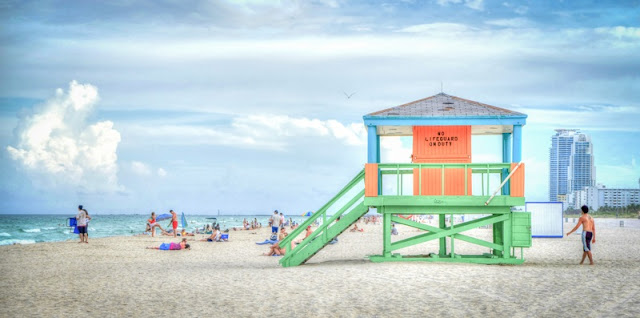 Bay Watch, LifeGuard Post at Miami Beach, Florida
