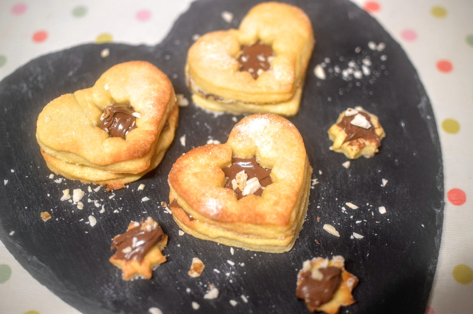 ", Recipe:  ""Nutella (not Jammy) Dodger"" Biscuits"