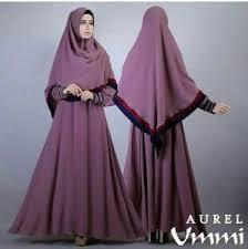 Baju Muslim Gamis Kombinasi Hijab Syar'i