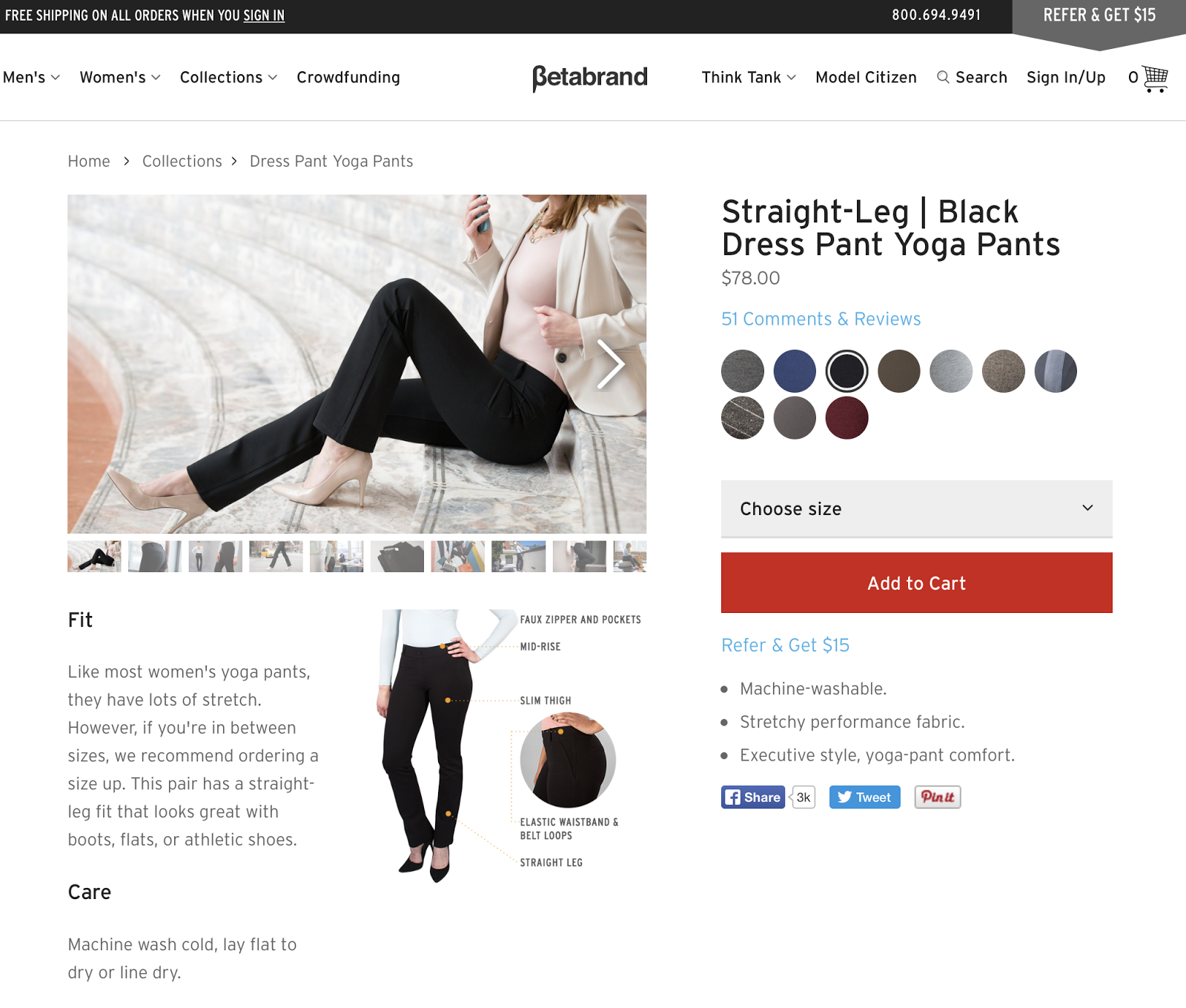 Review: Dress Yoga Pants From Betabrand
