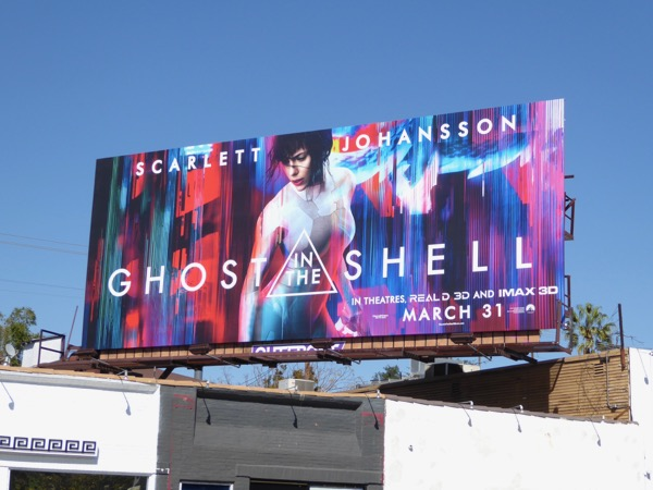 Scarlett Johansson Ghost in the Shell movie billboard