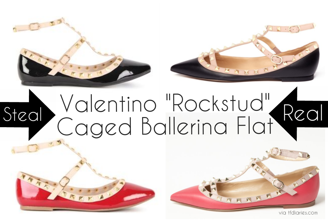 designer look for less, rockstud flats looks for less, valentino look for less, rockstud inspired flats under $50