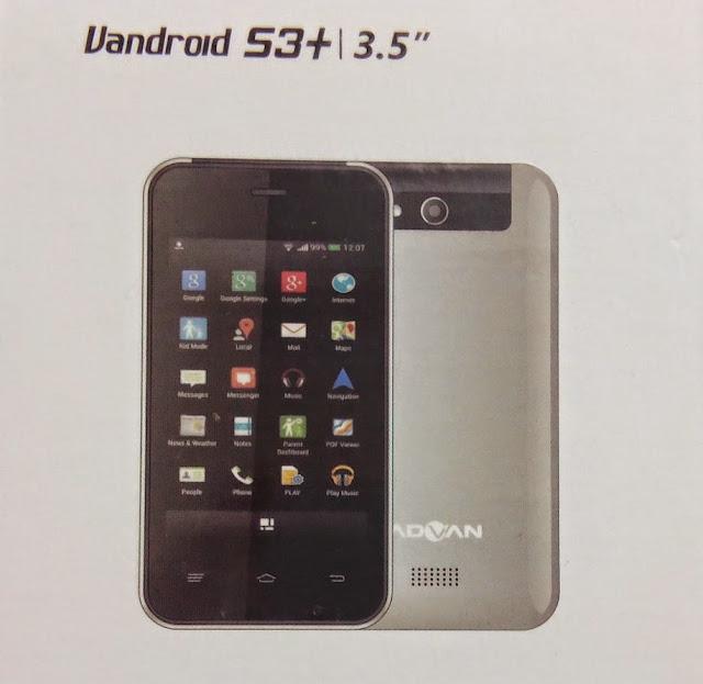 Firmware Advan S3+ TLA221W3071_1.0/MTK6571/OS4.4