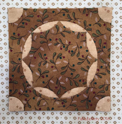 Dear Jane Quilt - Block E11 Wagon Wheel