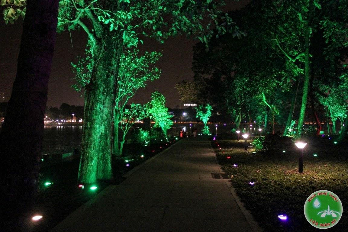 đèn led chiếu sáng 9w tại công viên thống nhất