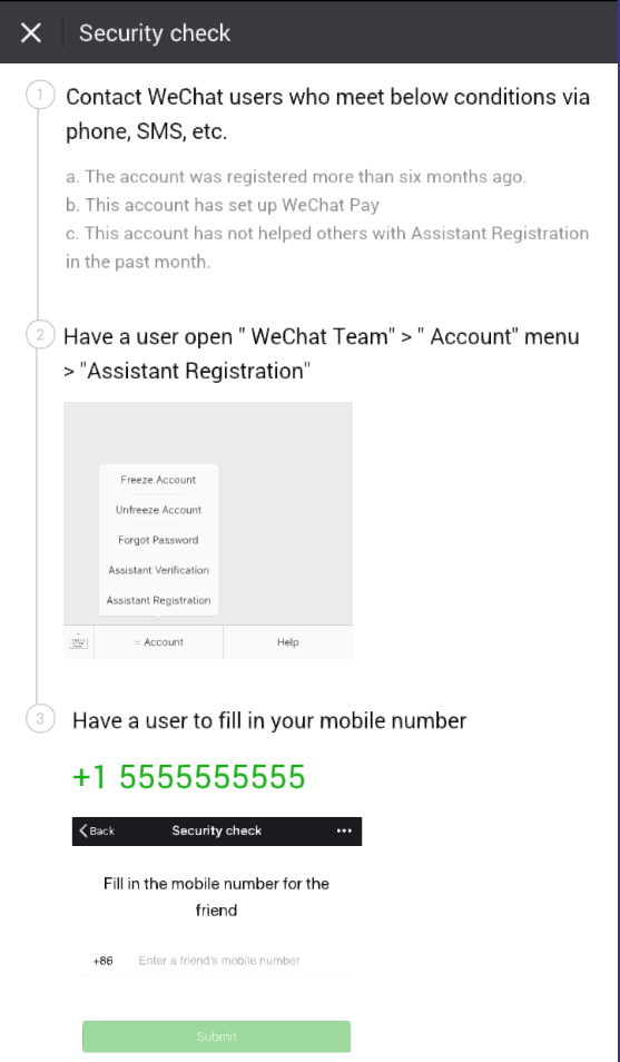 WeChat Instructions & Guide