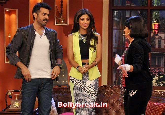 Harman Baweja, Shilpa Shetty and Upasana Singh, Shilpa Shetty Promotes Dishkiyaaoon Promotion on Comedy Night with Kapil