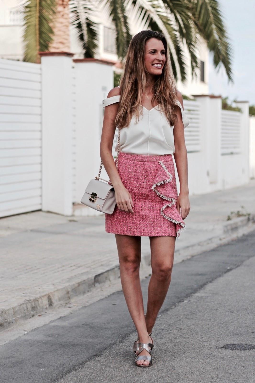 falda de tweed