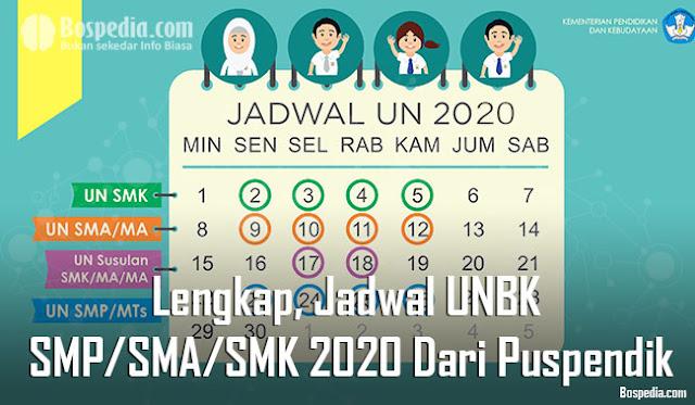 Halo adik adik yang baik hati yang sekarang lagi mepersiapkan Ujian Nasional dan UNBK bai Lengkap, Jadwal UNBK Untuk SMP/SMA/SMK 2020 Dari Puspendik