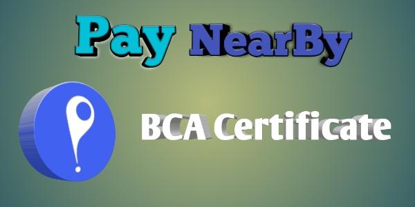 PayNearBy Ka  Retailer BCA Certificate Download Kaise Kare