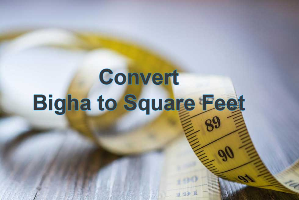 Convert 1 Bigha to Square Feet (sq ft) - Land Measurement