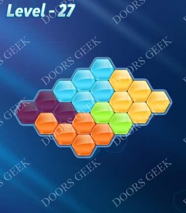 Block! Hexa Puzzle [5 Mania] Level 27 Solution, Cheats, Walkthrough for android, iphone, ipad, ipod