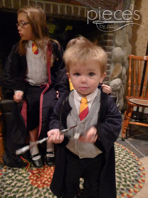 I was frantically trying to finish up our familyu0027s Harry Potter themed costume and folding laundry trying to find the kidsu0027 black pants and socks to go with ...  sc 1 st  Pieces By Polly & Pieces by Polly: Super Fast and Easy DIY Harry Potter Robe from a T ...