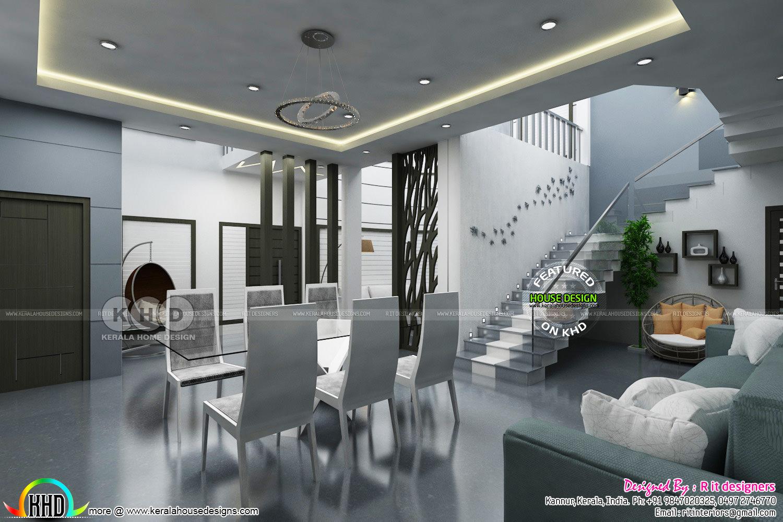 Study Room Dining And Living Interior Kerala Home Design Bloglovin